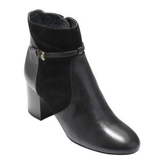 Cole Haan Women's Paulina Grand Bootie Black Leather/Suede
