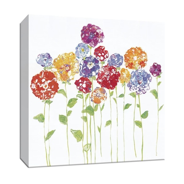 """PTM Images 9-147191 PTM Canvas Collection 12"""" x 12"""" - """"Pretty Posies II"""" Giclee Flowers Art Print on Canvas"""