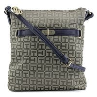 Tommy Hilfiger Helen Monogram Jacquard Crossbody    Messenger - Brown