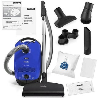 Miele Classic C1 Delphi Canister Vacuum Cleaner + SEB217-3 Powerhead + More