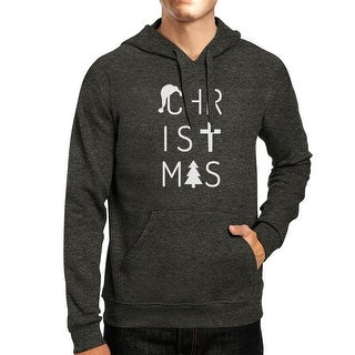 Letter Christmas Hoodie Pullover Fleece Holiday Gift Hooded Sweater