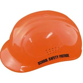Hi-Viz Orange Helmet w/ Label