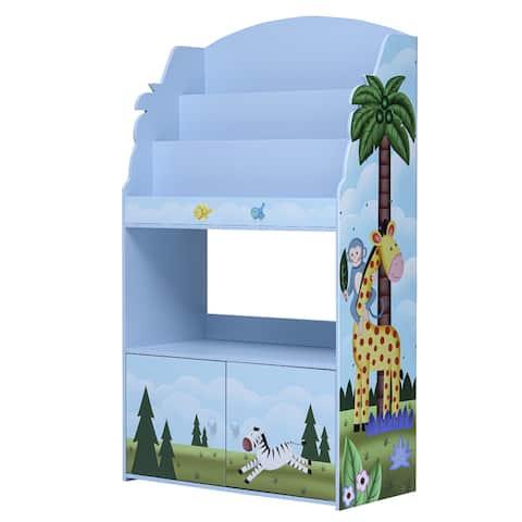 Fantasy Fields - Sunny Safari 3-tier Kids Large Display Bookshelf
