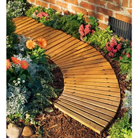 Plow and Hearth 6-foot Wooden Roll-out Pathway