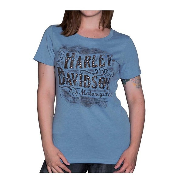 Girls Harley Davidson Motorcycle T-Shirt Teal Floral Kids Clothing