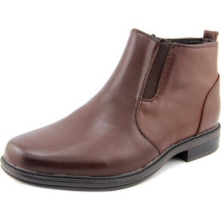 Alpine Swiss ELI Men Square Toe Canvas Brown Ankle Boot