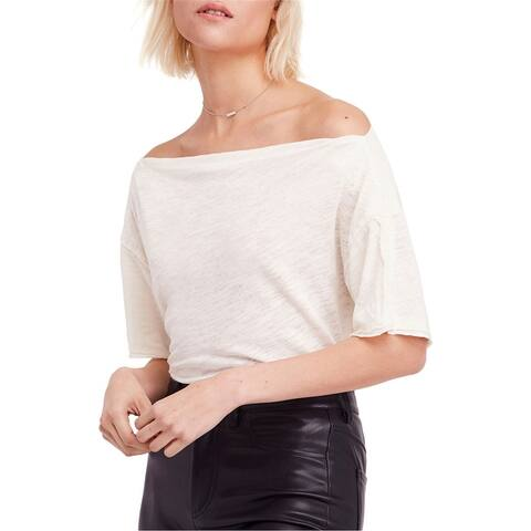 Free People Womens She So Cool Basic T-Shirt