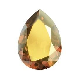 Swarovski Crystal, 4320 Pear Fancy Stone 18x13mm, 1 Piece, Crystal Metallic Sunshine F