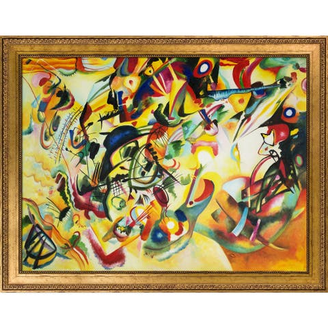 Wassily Kandinsky 'Composition VII, 1913' Hand Painted Oil Reproduction