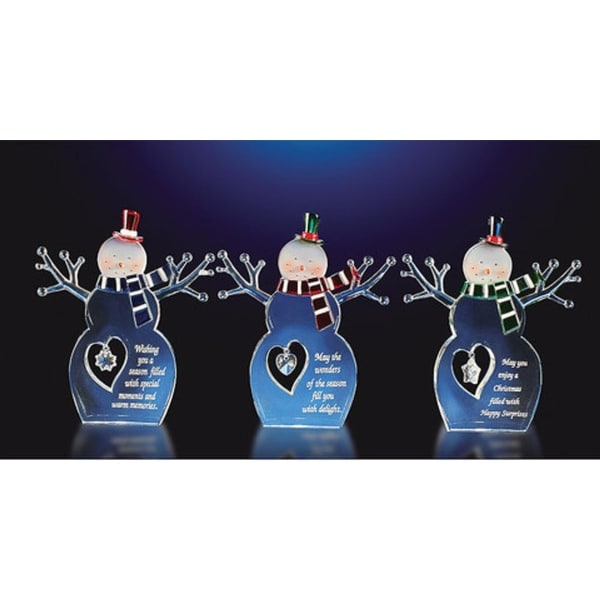 """Club Pack of 12 Decorative Inspirational Christmas Snowmen 5.5"""" - CLEAR"""