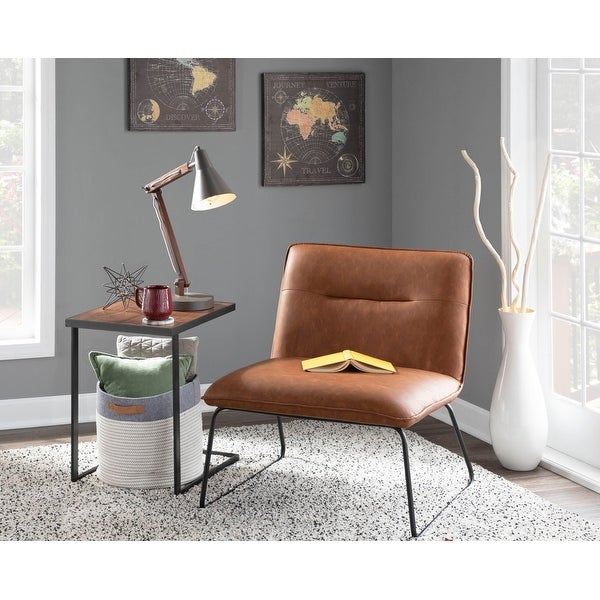 Carbon Loft Kerby Industrial Faux Leather Accent Chair - N/A. Opens flyout.