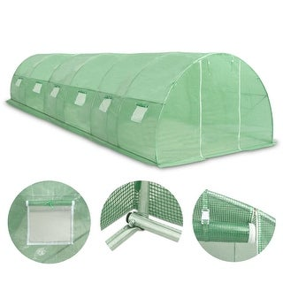 "Link to vidaXL Greenhouse 290.6 ft² 354.3""x18.1""x78.7"" Similar Items in Gardening"
