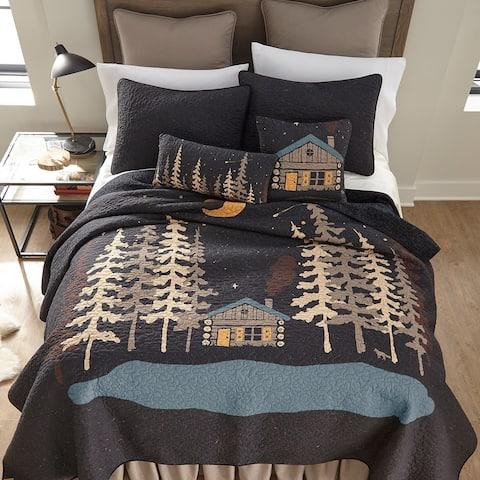 Donna Sharp Moonlit Cabin Quilt Set