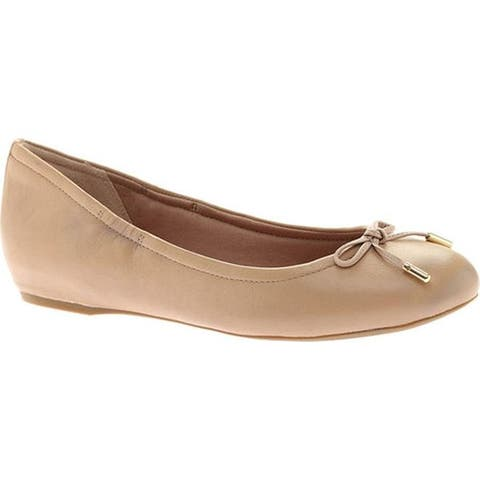 Rockport Women's Total Motion Hidden Wedge Tied Ballet Flat Warm Taupe Nappa