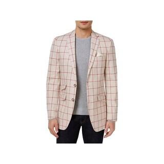 Tallia Mens Two-Button Blazer Slim Fit Linen - 38r