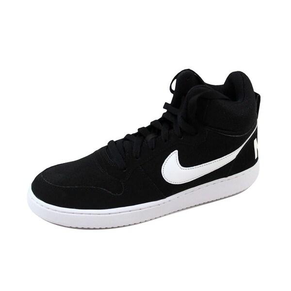 Shop Nike Men's Court Borough Mid BlackWhite 838938 010