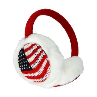 CTM® Women's American Flag Earmuffs - One size