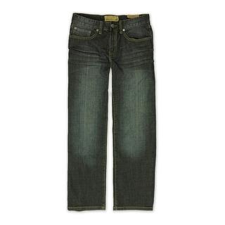 Ecko Unltd. Mens Fit Miller Wash Denim Relaxed Jeans, blue, 28W x 32L