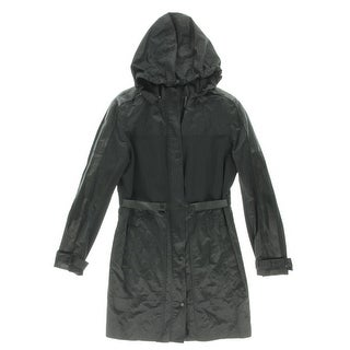 Elie Tahari Womens Bianca Leather Trim Long Sleeves Jacket - XL