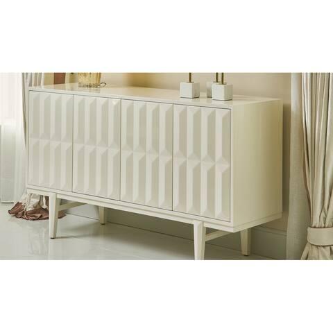 "Jennifer Taylor Home Facino 58.5"" Modern Sideboard Storage Buffet Table"