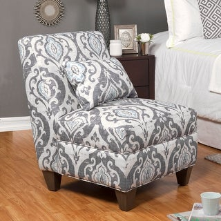 Link to HomePop Blue Slate Large Accent Chair Similar Items in Living Room Chairs