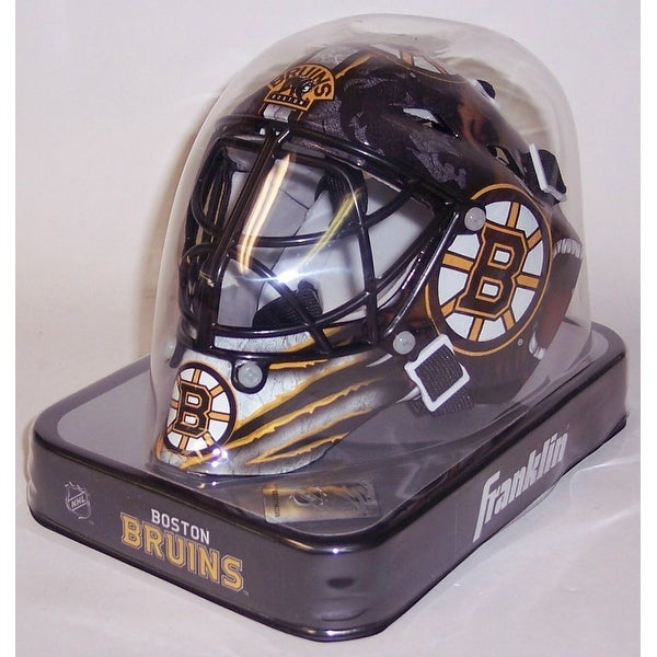 brand new 4096b 6bbf7 Boston Bruins Franklin Sports NHL Mini Goalie Mask