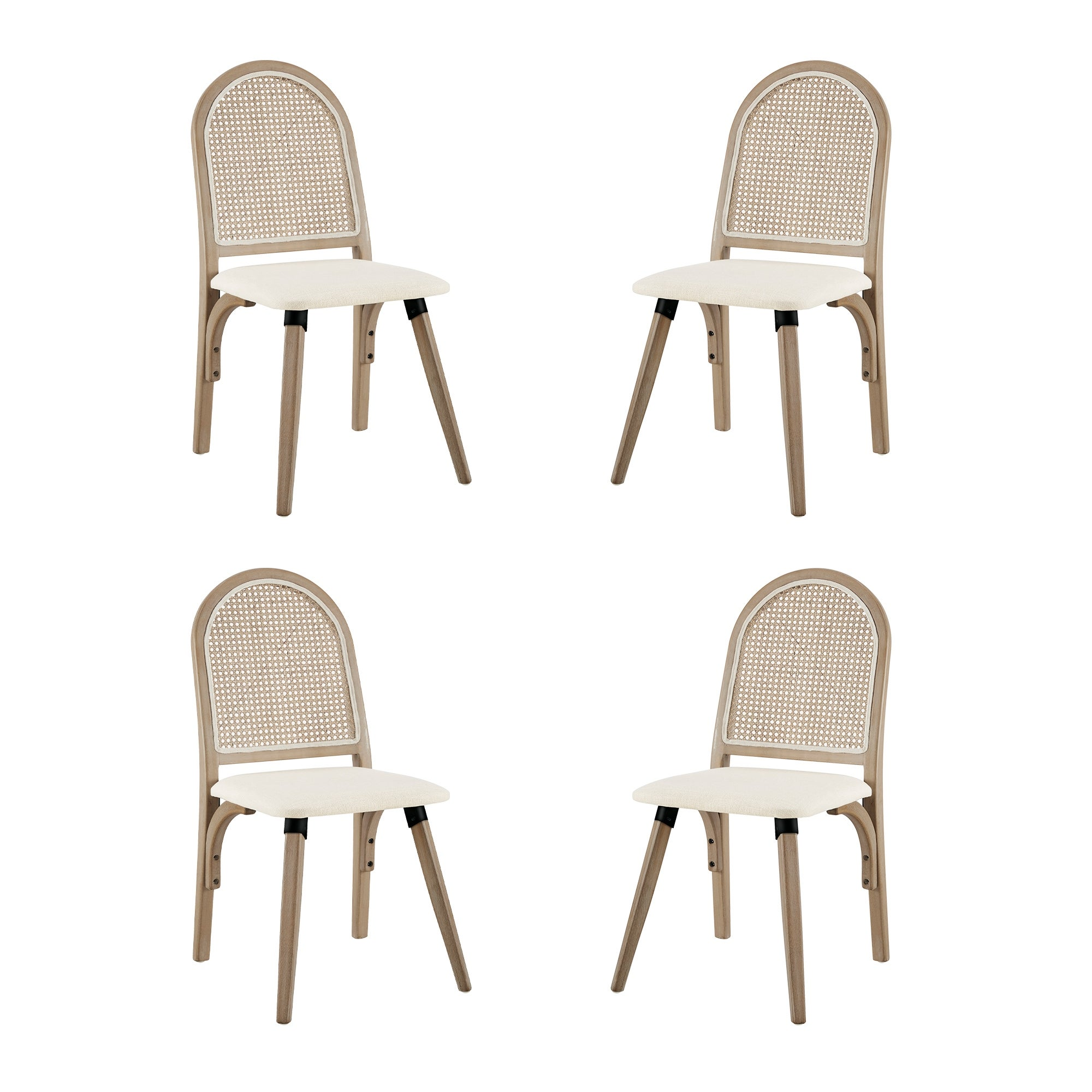 Shop For Art Leon Rattan Linen Fabric Cane Dining Side Chair With Bamboo Frame Get Free Shipping On Everything At Overstock Your Online Furniture Outlet Store Get 5 In Rewards With Club O 30668069
