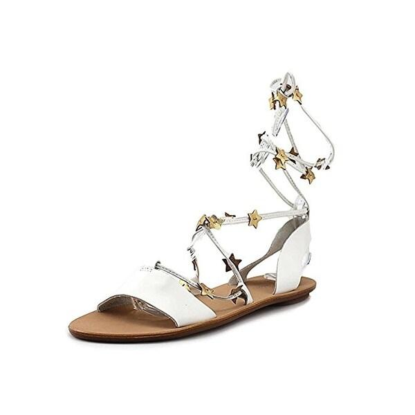 100102d849b8 Shop Loeffler Randall Womens Starla Flat Sandals Metallic Stars ...