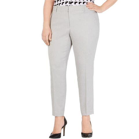 Calvin Klein Womens Twill Slim Casual Trouser Pants