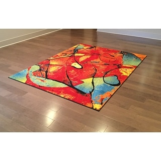Alise Rugs Rhapsody Contemporary Abstract Area Rug - 5'3 x 7'3