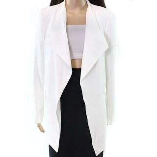 Calvin Klein NEW White Women's Size Small S Draped Open Blazer