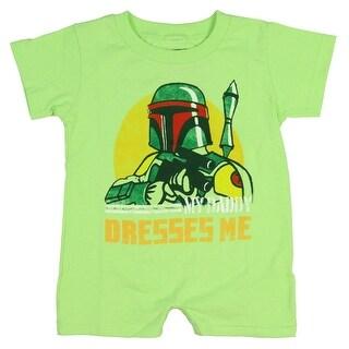 Star Wars Unisex Baby Boba Fett My Dad Dresses Me Romper Snapsuit
