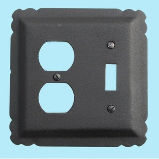 Switchplate Black Wrought Iron Toggle/Duplex
