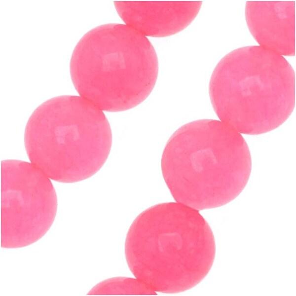 Pink Candy Jade 6mm Round Beads / 15.5 Inch Strand