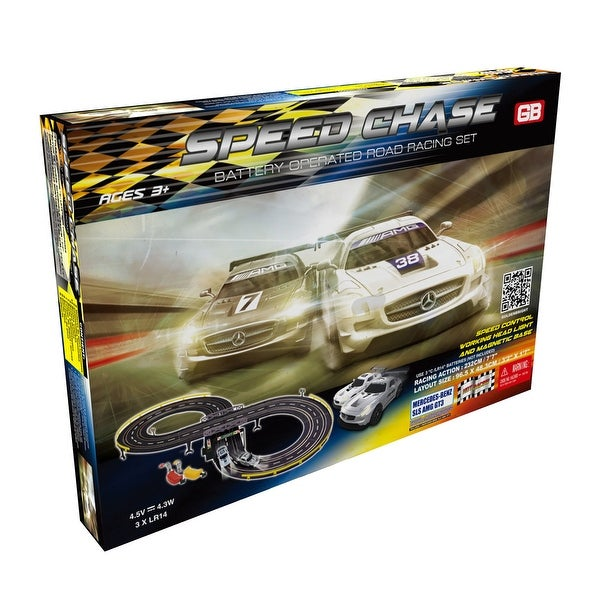 Speed Chase Road Racing Slot Car Set - Battery Operated. Opens flyout.