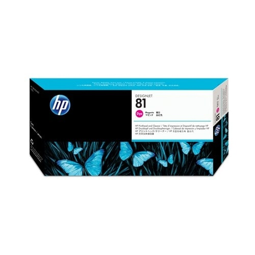 HP 81 Magenta DesignJet Dye Printhead and Printhead Cleaner (C4952A) (Single Pack)