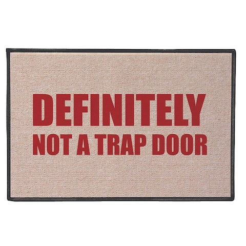 "What on Earth Not A Trap Door Doormat, Funny Olefin Welcome Mat, 18"" x 27"" - Beige - 27 Inch x 18 Inch"