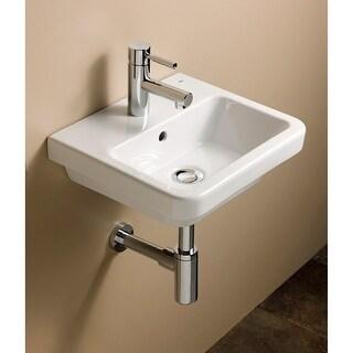 "Bissonnet 05050 Universal Street 15-3/4"" Wall Mounted Rear Drain Bathroom Sink w - White"