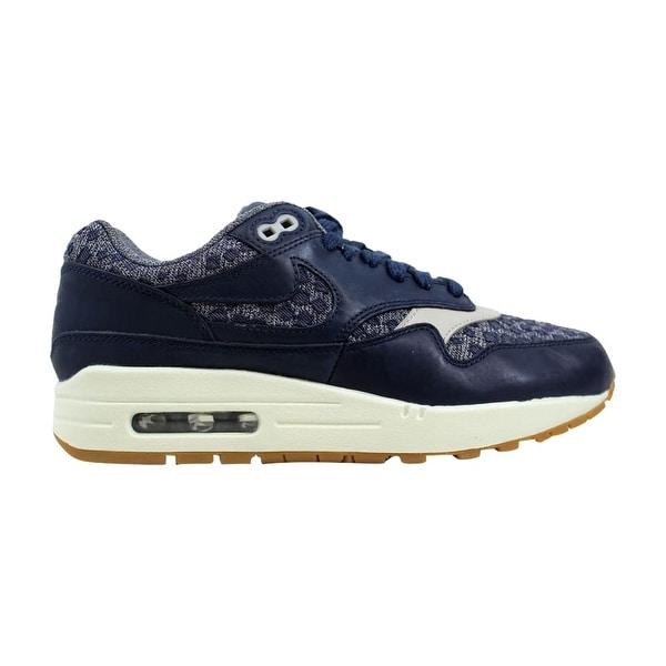 edb86d52aa Shop Nike Air Max 1 Premium Obsidian/Obsidian-Pale Grey Women's ...