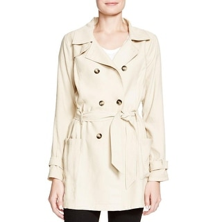 Ella Moss Womens Trench Coat Rayon Blend Long Sleeve