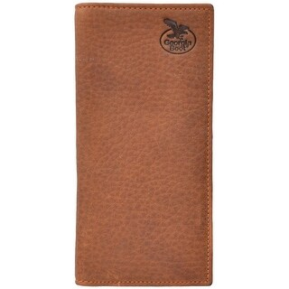 Georgia Wallet Men Leather Rodeo Checkbook Light Brown GBW186 - One size
