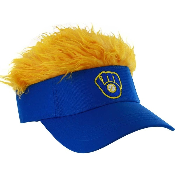 6e119d1b Shop Milwaukee Brewers Retro Logo Flair Hair Royal Blue Visor - Free  Shipping On Orders Over $45 - Overstock - 23549206