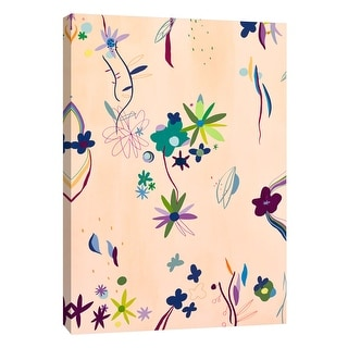 """PTM Images 9-108680  PTM Canvas Collection 10"""" x 8"""" - """"Colorful Spring V"""" Giclee Flowers and Leaves Art Print on Canvas"""