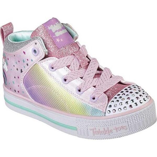 f2bba5c5694d Skechers Girls  x27  Twinkle Toes Twinkle Lite Unicorn Chic High Top  Pink Multi