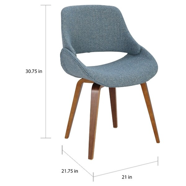 Carson Carrington Svellingen Mid-Century Modern Cross Frame Bent Wood Chair (Set of 2) - N/A