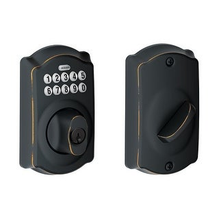 Schlage BE365-CAM-RF Camelot Electronic Keypad Single Cylinder Deadbolt- Manufacturer Refurbished
