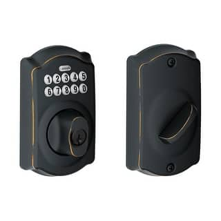 Shop Schlage Be365vcam716 Aged Bronze Camelot Keypad