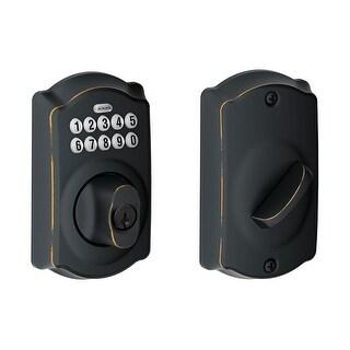 Schlage BE365V-CAM Camelot Electronic Keypad Single Cylinder Deadbolt - N/A