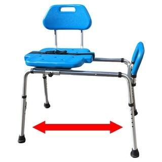 Platinum Health HydroGlyde Premium Sliding Bath Shower Transfer Bench / Chair with FREE BONUS SEAT PAD (a $40 value)