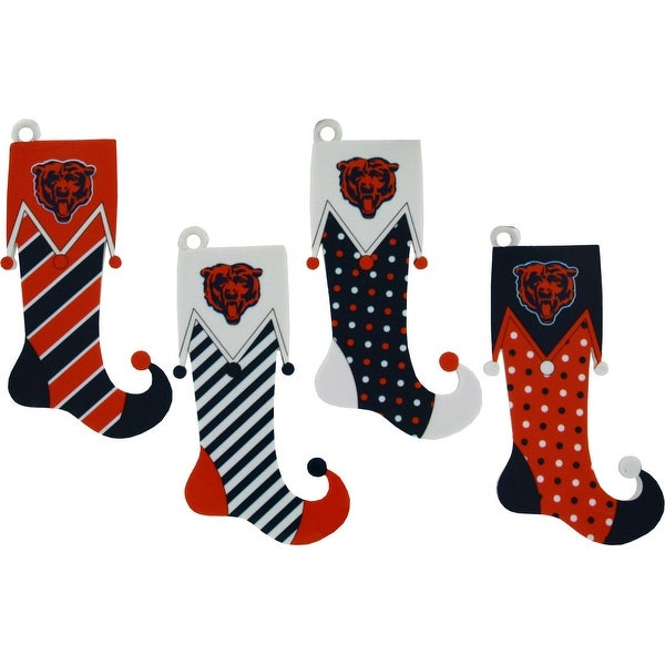 Chicago Bears Stocking Ornament – 4 Pack